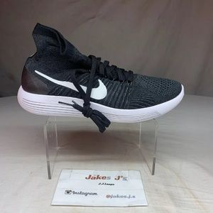 Nike LunarEpic Flyknit Black White Anthracite Volt